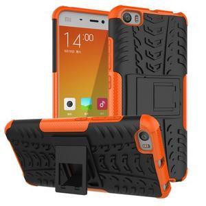 Odolný outdoor obal pre mobil Xiaomi Mi5 - oranžový - 1