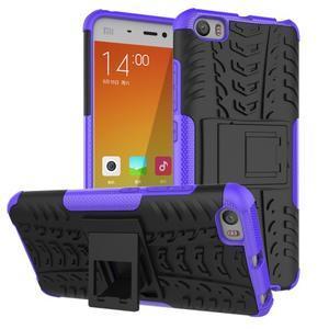 Odolný outdoor obal pre mobil Xiaomi Mi5 - fialový - 1