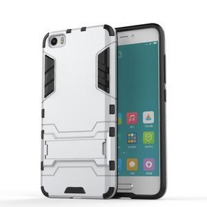 Hybridní odolný kryt pre mobil Xiaomi Mi5 - strieborný - 1