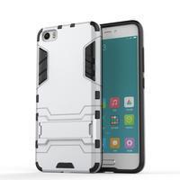 Hybridní odolný kryt pre mobil Xiaomi Mi5 - strieborný - 1/4