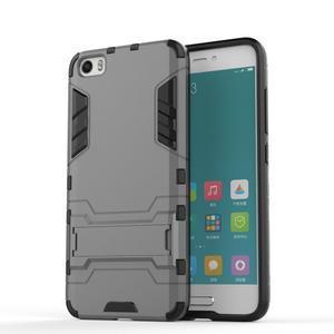 Hybridní odolný kryt pre mobil Xiaomi Mi5 - sivý - 1
