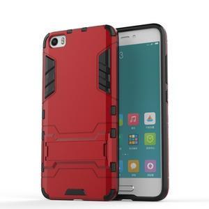 Hybridní odolný kryt pre mobil Xiaomi Mi5 - červený - 1
