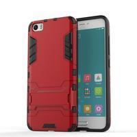 Hybridní odolný kryt pre mobil Xiaomi Mi5 - červený - 1/4