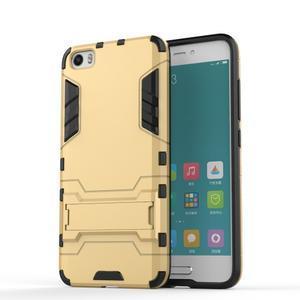 Hybridní odolný kryt pre mobil Xiaomi Mi5 - zlatý - 1