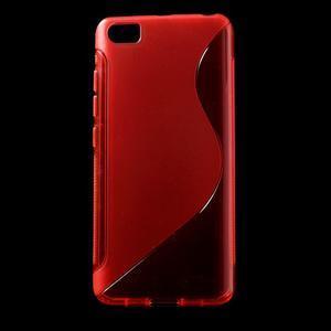 S-line gélový obal pre mobil Xiaomi Mi5 - červený - 1