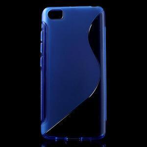 S-line gélový obal pre mobil Xiaomi Mi5 - modrý - 1