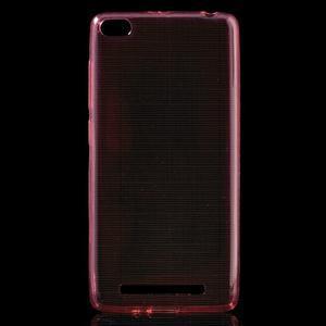Ultratenký slim gelový obal na mobil Xiaomi Redmi 3 - červený - 1
