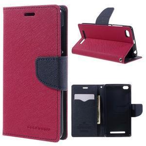 Diary PU kožené puzdro pre mobil Xiaomi Redmi 3 - rose - 1
