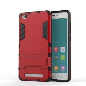 Hybridní gelový obal na Xiaomi Redmi 3 - červený - 1