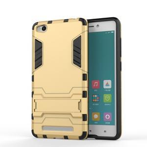 Hybridní gelový obal na Xiaomi Redmi 3 - zlatý - 1