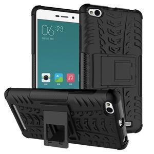 Outdoor odolný obal pre mobil Xiaomi Redmi 3 - čierný - 1