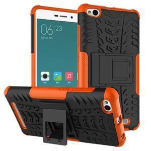 Outdoor odolný obal na mobil Xiaomi Redmi 3 - oranžový - 1