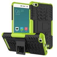 Outdoor odolný obal pre mobil Xiaomi Redmi 3 - zelený - 1/2