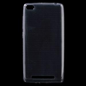 Ultratenký slim gélový obal pre mobil Xiaomi Redmi 3 - sivý - 1