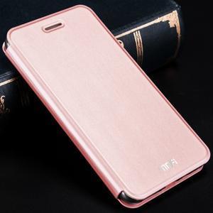 Vintage PU kožené puzdro pre Xiaomi Redmi 3 - ružové - 1