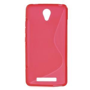 S-line gélový obal pre mobil Xiaomi Redmi Note 2 - červený - 1