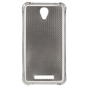 Diamonds gélový obal pre Xiaomi Redmi Note 2 - sivý - 1
