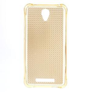 Diamonds gélový obal pre Xiaomi Redmi Note 2 - zlatý - 1