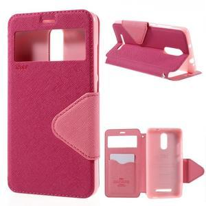 Diary pouzdro s okýnkem na mobil Xiaomi Redmi Note 3  - rose - 1