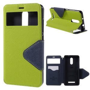 Diary pouzdro s okýnkem na mobil Xiaomi Redmi Note 3  - zelené - 1