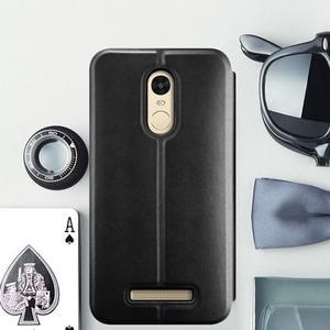 Vintage PU kožené pouzdro na mobil Xiaomi Redmi Note 3 - černé - 1