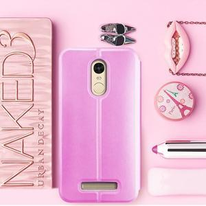 Vintage PU kožené pouzdro na mobil Xiaomi Redmi Note 3 - růžové - 1