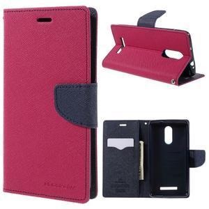Wallet PU kožené pouzdra na Xiaomi Redmi Note 3 - rose - 1