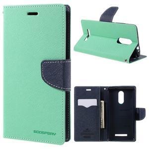 Wallet PU kožené puzdra na Xiaomi Redmi Note 3 - azurové - 1