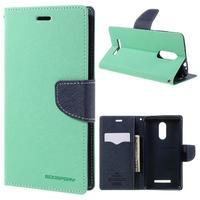 Wallet PU kožené puzdra na Xiaomi Redmi Note 3 - azurové - 1/7