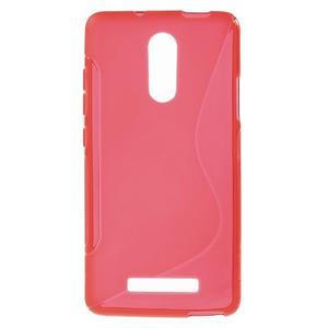 S-line gélový obal pre Xiaomi Redmi Note 3 - červený - 1