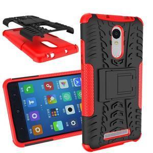 Outdoor odolný kryt pre Xiaomi Redmi Note 3 - červený - 1