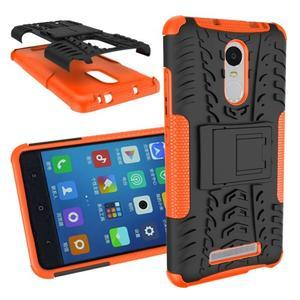 Outdoor odolný kryt pre Xiaomi Redmi Note 3 - oranžový - 1