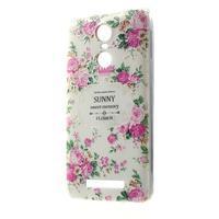 Softy gélový obal pre Xiaomi Redmi Note 3 - kvetiny - 1/5
