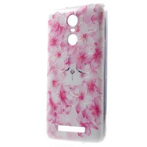 Softy gelový obal na Xiaomi Redmi Note 3 - květy švestky - 1
