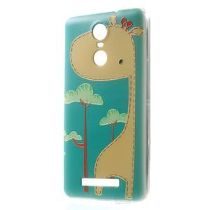Softy gélový obal pre Xiaomi Redmi Note 3 - žirafa - 1