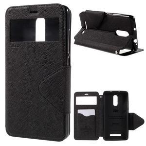 Diary pouzdro s okýnkem na mobil Xiaomi Redmi Note 3  - černé - 1