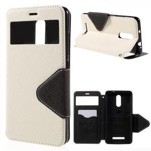 Diary pouzdro s okýnkem na mobil Xiaomi Redmi Note 3  - bílé - 1