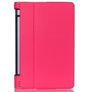 Polohovatelné PU kožené puzdro pre Lenovo Yoga Tab 3 8.0 - rose - 1
