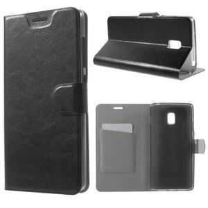 Horse peňaženkové puzdro pre Lenovo Vibe P1 - čierné - 1