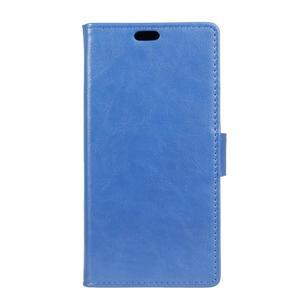 Leat PU kožené pouzdro Lenovo Vibe P1 - modré - 1