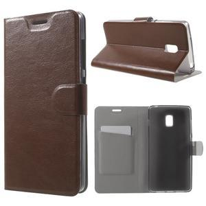 Horse peňaženkové puzdro pre Lenovo Vibe P1 - hnedé - 1
