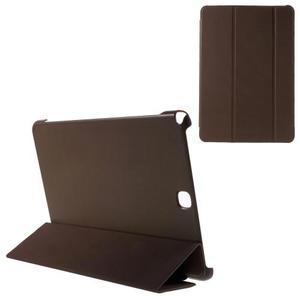 Trifold polohovatelné puzdro na Samsung Galaxy Tab A 9.7 - hnedé - 1