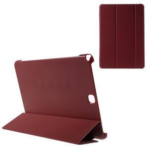 Trifold polohovatelné puzdro na Samsung Galaxy Tab A 9.7 - červené - 1