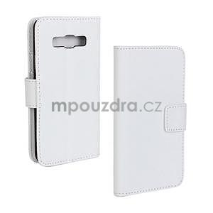 Kožené puzdro na Samsung Galaxy A3 - biele - 1