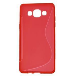 Gélové s-line puzdro na Samsung Galaxy A3 - červená - 1