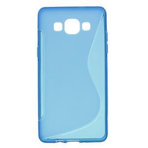 Gélové s-line puzdro pre Samsung Galaxy A3    - modrá - 1