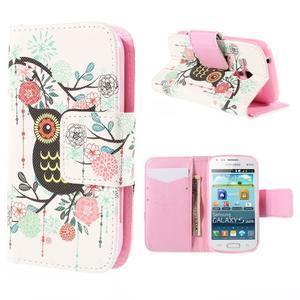 Peňaženkové puzdro pre Samsung Galaxy S Duos / Trend Plus -  sova - 1