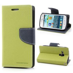 Diary puzdro na mobil Samsung Galaxy S Duos / Trend Plus - zelené - 1