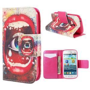 Peňaženkové puzdro pre Samsung Galaxy S Duos / Trend Plus - oko - 1