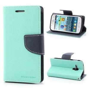 Diary puzdro na mobil Samsung Galaxy S Duos / Trend Plus - azurové - 1